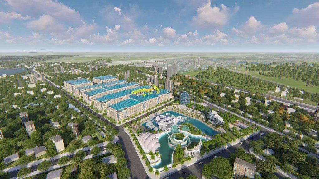 Phối cảnh dự án khu đô thị Center Mall -tại Bạc Liêu