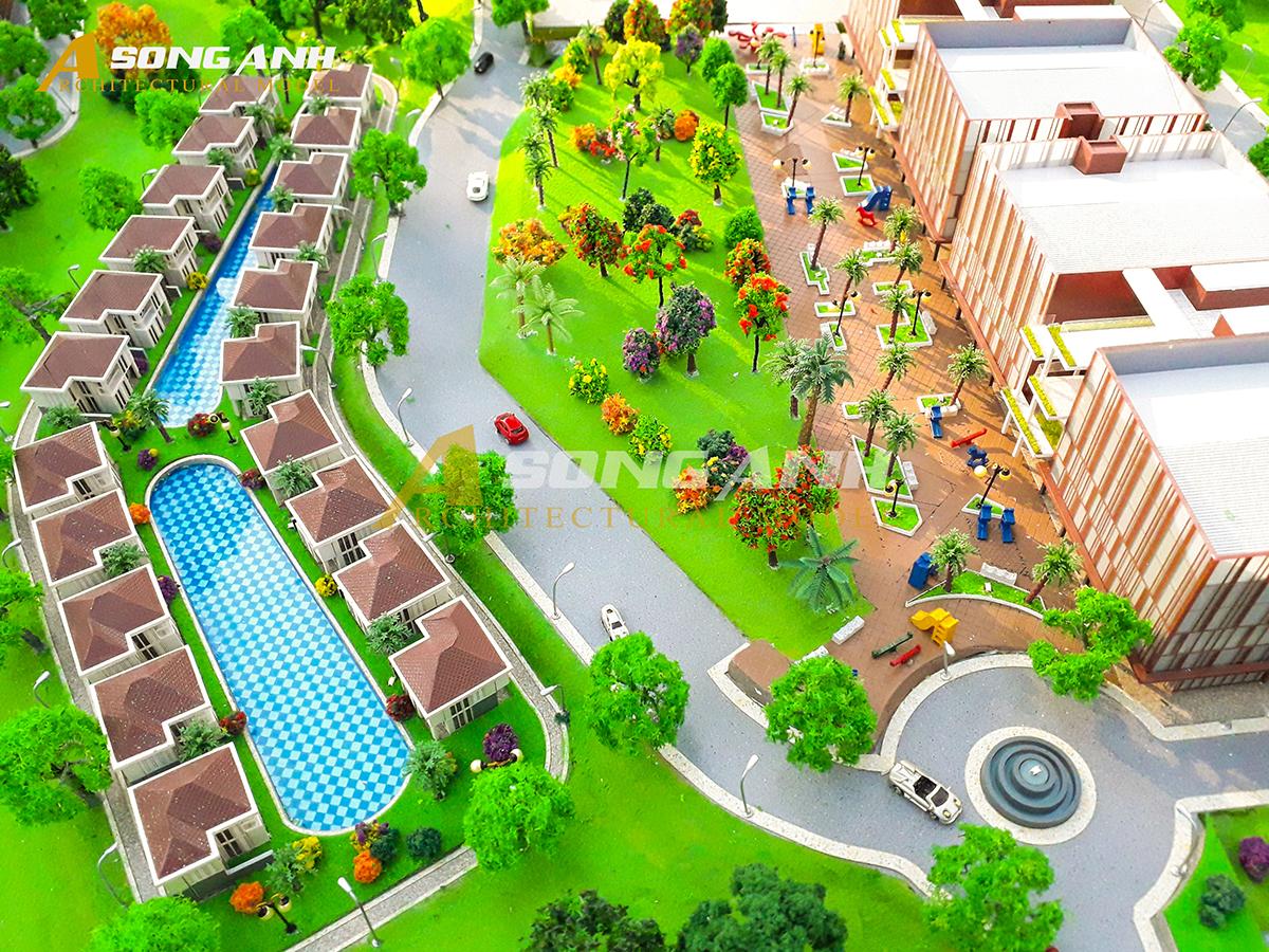 Mô hình dự án Kompong Dewa Resort tại Sihanoukville, Campuchia