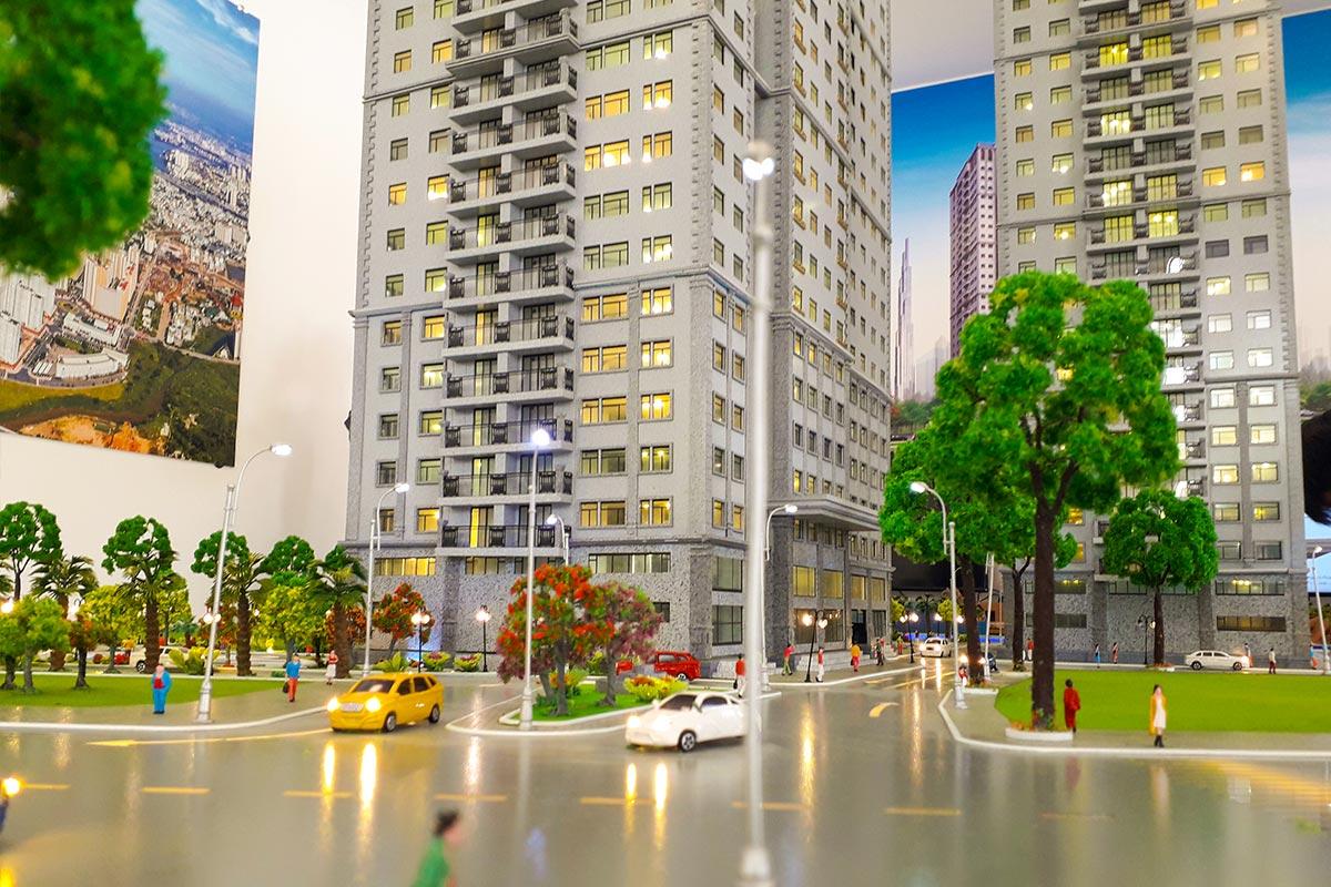 mô hình chung cư Paris Hoàng Kim tại quận 2