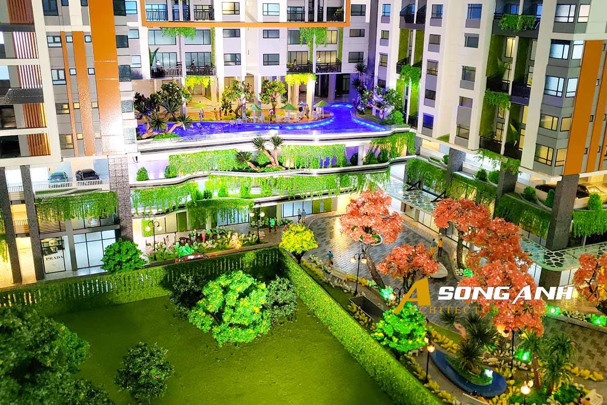 Mô hình chung cư Phú Đông Sky Garden