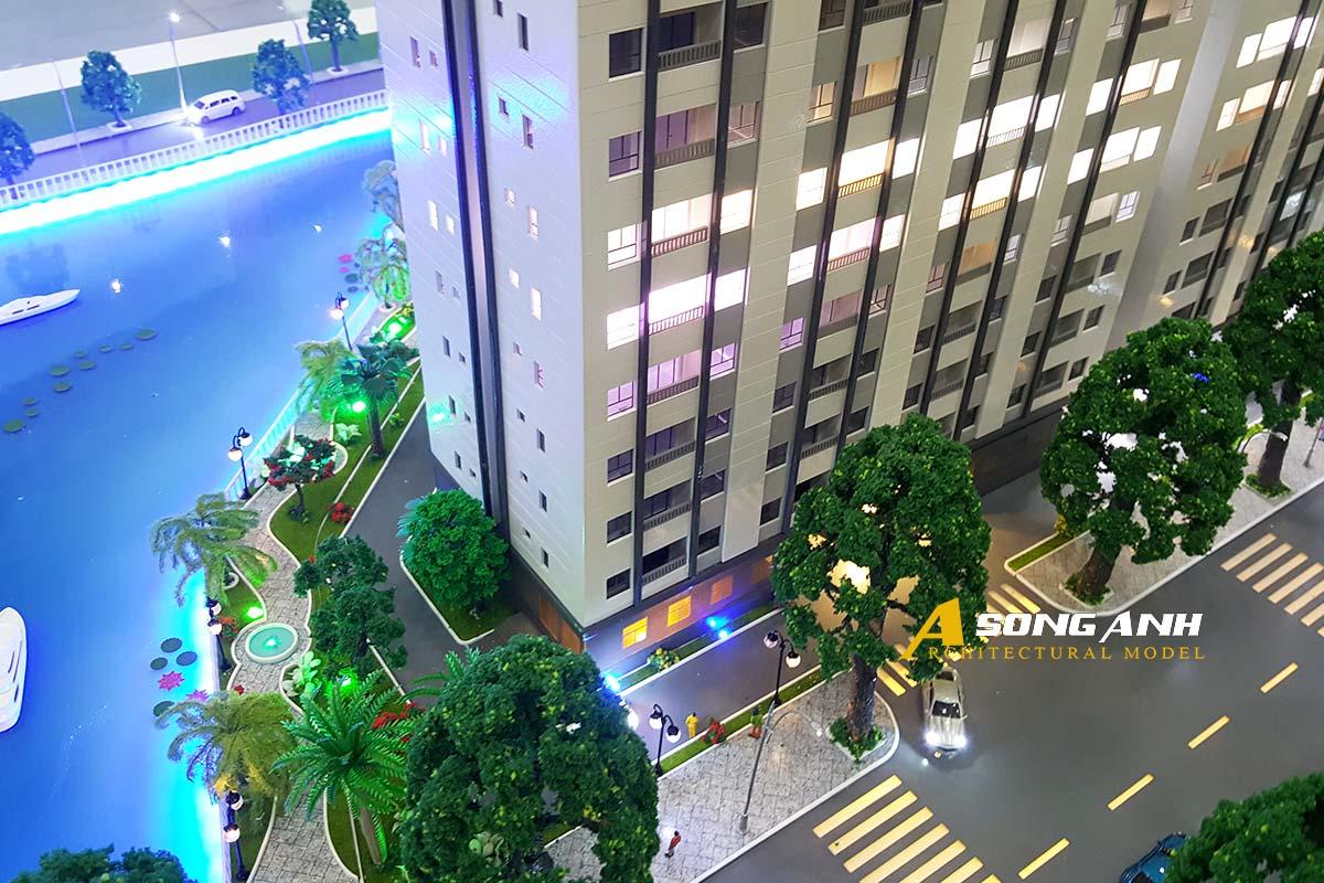 mô hình chung cư TDH Riverview