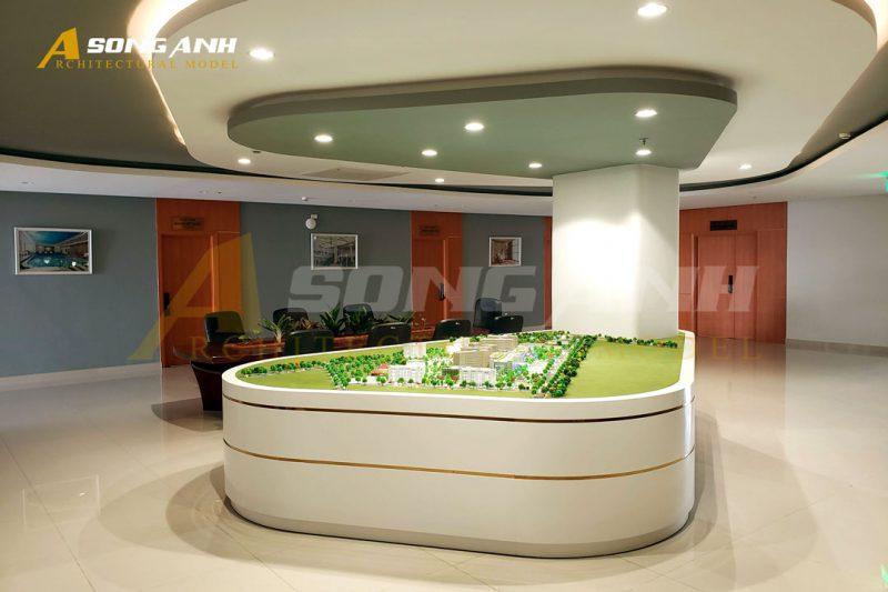 Mô hình kiến trúc thể hiện sự quy mô của dự án