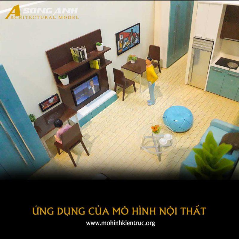 ứng dụng mô hình nội thất