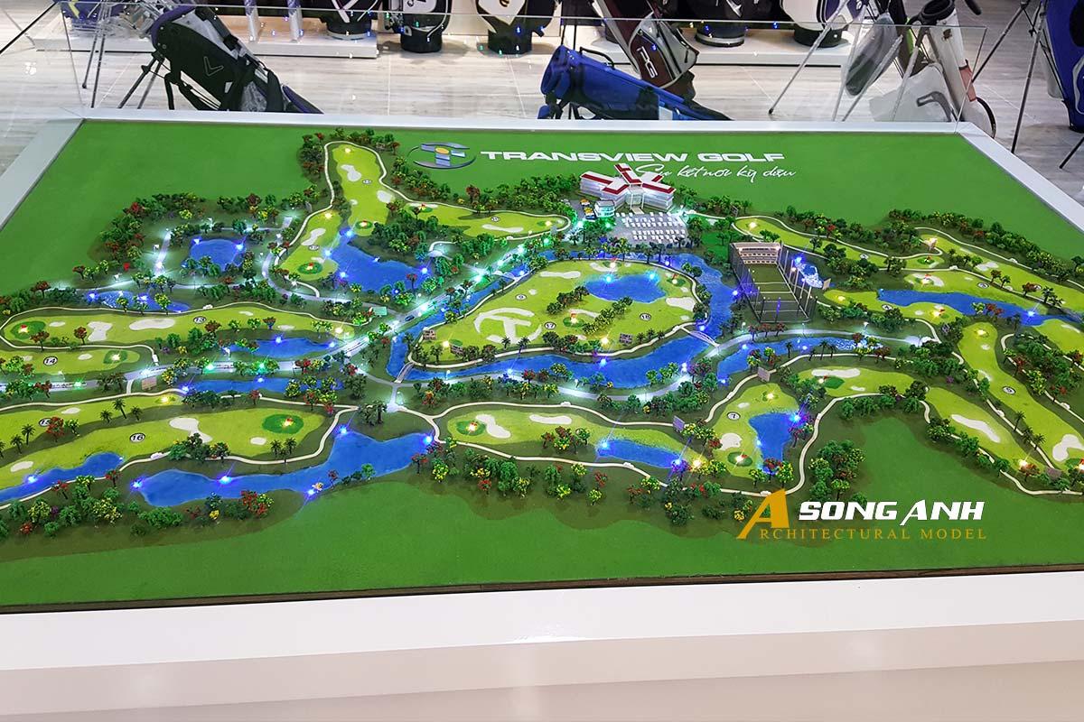 mô hình sân golf transview golf